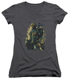 Juniors: Batman Arkham Origins - Deathstroke V-Neck Womens V-Necks