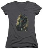 Juniors: Batman Arkham Origins - Deathstroke V-Neck T-Shirt