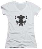 Juniors: Watchmen - Rorschach Face V-Neck T-shirts