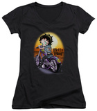Juniors: Betty Boop - Wild Biker V-Neck Shirts