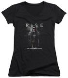 Juniors: Dark Knight Rises - Catwoman Rise V-Neck T-shirts