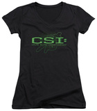 Juniors: CSI - Sketchy Shadow V-Neck T-shirts