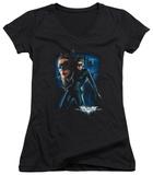 Juniors: Dark Knight Rises - Catwoman V-Neck Shirt