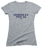 Juniors: Weird Science - Shermer H.S. V-Neck Shirt