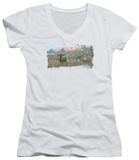 Juniors: Wildlife - Cape Buffalo V-Neck Shirts