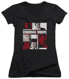 Juniors: Criminal Minds - Character Boxes V-Neck T-shirts