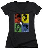 Juniors: Bruce Lee - Enter Color Block V-Neck Shirt