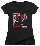 Juniors: Criminal Minds - Guns Drawn V-Neck T-shirts