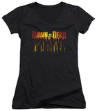Juniors: Dawn Of The Dead - Walking Dead V-Neck T-shirts