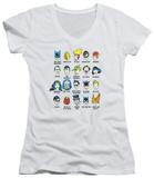 Juniors: DC Comics - Superhero Issues V-Neck T-Shirt
