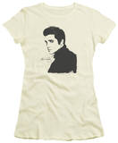 Juniors: Elvis Presley - Black Paint Shirt