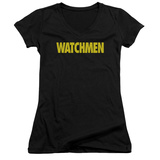 Juniors: Watchmen - Logo V-Neck T-shirts