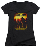 Juniors: Dawn Of The Dead - Title V-Neck T-shirts