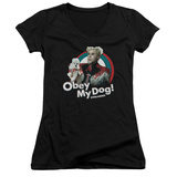 Juniors: Zoolander - Obey My Dog V-Neck Womens V-Necks