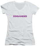 Juniors: Zoolander - Logo V-Neck Shirts