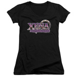 Juniors: Xena: Warrior Princess - Logo V-Neck T-Shirt