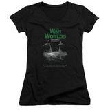 Juniors: War Of The Worlds - Attack Poster V-Neck T-Shirt