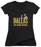 Juniors: Dallas - Logo V-Neck T-Shirt