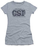 Juniors: CSI - Distressed Logo Shirt