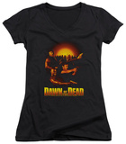 Juniors: Dawn Of The Dead - Dawn Collage V-Neck T-Shirt