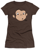 Juniors: Curious George - George Face T-shirts