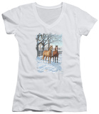 Juniors: Wildlife - Coffee And Chocolate V-Neck T-shirts