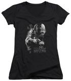 Juniors: Dark Knight Rises - Evil Rising V-Neck T-shirts