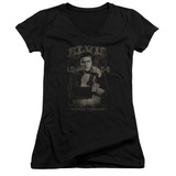 Juniors: Elvis Presley - 1954 V-Neck Womens V-Necks
