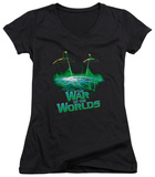 Juniors: War of the Worlds - Global Attack V-Neck T-shirts