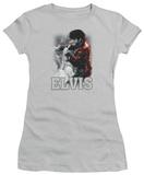 Juniors: Elvis Presley - Black Leather T-Shirt