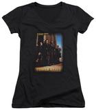 Juniors: Tower Heist - Title V-Neck T-shirts