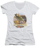 Juniors: Wildlife - Cartwheeling V-Neck T-shirts