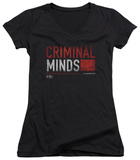 Juniors: Criminal Minds - Title Card V-Neck T-shirts