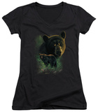 Juniors: Wildlife - Black Bears V-Neck Shirt