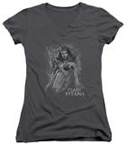 Juniors: Clash Of The Titans - Medusa V-Neck T-Shirt