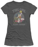 Juniors: Wonder Woman - Plays Rough T-shirts