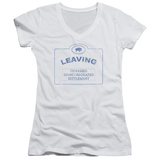 Juniors: Warehouse 13 - Now Leaving Univille V-Neck T-shirts