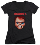 Juniors: Childs Play 3 - Chucky V-Neck Womens V-Necks