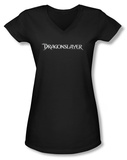 Juniors: Dragonslayer - Logo V-Neck T-Shirt