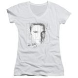 Juniors: Elvis Presley - Blue Eyes V-Neck T-shirts