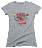 Juniors: DC Comics - Elongated Man V-Neck T-shirts