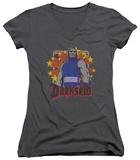 Juniors: DC Comics - Darkseid Stars V-Neck T-shirts