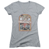Juniors: Emergency - Retro Cast V-Neck Shirts