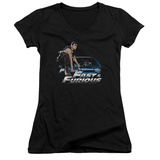 Juniors: Fast & Furious - Car Ride V-Neck T-Shirt