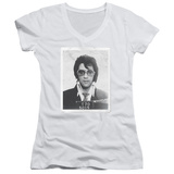 Juniors: Elvis Presley - Framed V-Neck Shirt