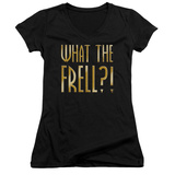 Juniors: Farscape - What The Frell V-Neck T-Shirt