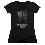 Juniors: Elvis Presley - Jailhouse Rock V-Neck Shirt