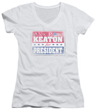 Juniors: Family Ties - Alex For President V-Neck T-Shirt