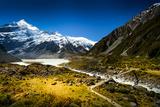 Way to Mount. Cook Fotografisk tryk af NitiChuysakul Photography