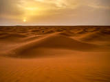Posta De Sol Al Desert De Tunisia Photographic Print by Copyright Antoni Torres